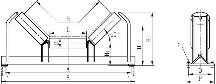 DTII型上皮带液压纠偏装置外形图