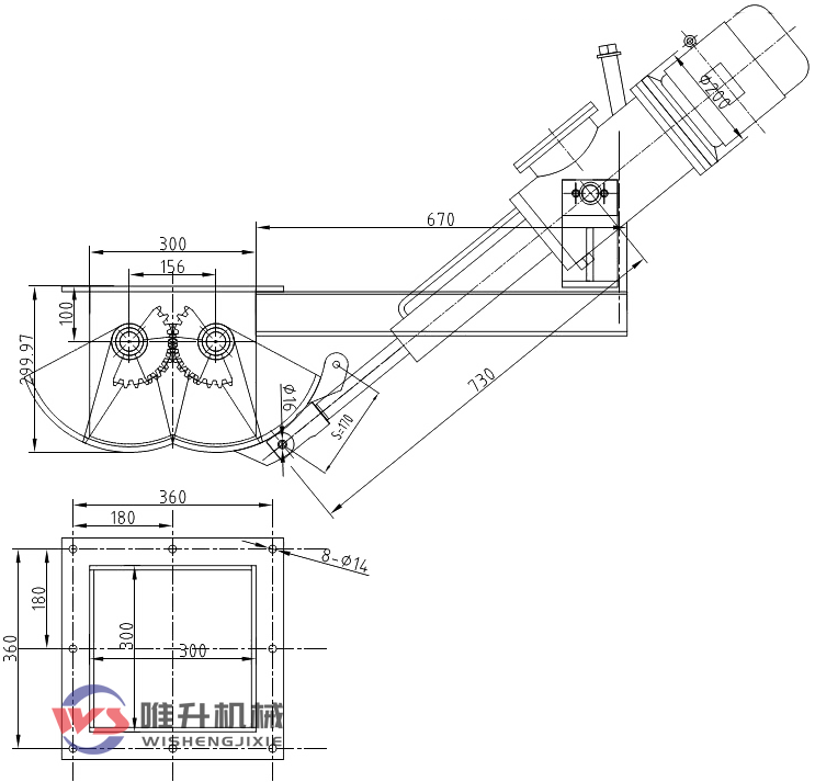 DEZ-B300电液动腭式闸门外形tu纸